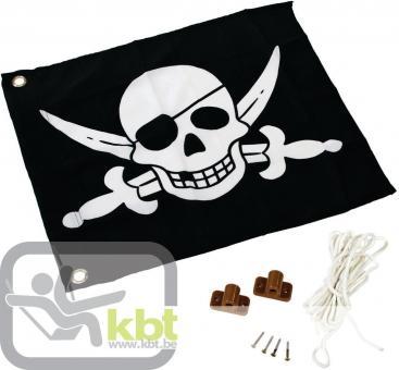 """Fahne mit Hisssystem """"Pirat"""" für Spielturm"""