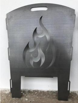 Feuerkorb Motiv Feuer und Flamme