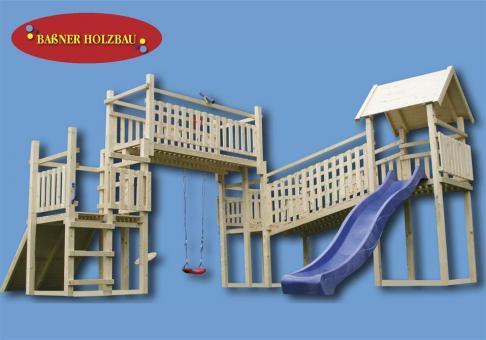 "Fichtenholz Spielturm Modell 15 ""ROBIN"" ohne Zubehör ohne Rutsche ohne Rutsche | ohne Zubehör"