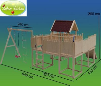 fichtenholz spielturm modell 16 muffy ohne zubeh r 100cm ohne rutsche 100cm ohne rutsche. Black Bedroom Furniture Sets. Home Design Ideas