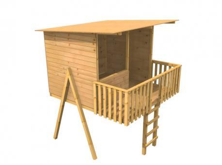 Fichtenholz Spielturm Modell 19 MAJA ohne Rutsche ohne Zubehör ohne Rutsche | ohne Zubehör