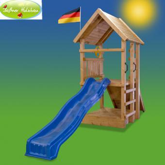 "Fichtenholz Spielturm Modell 2 ""RALLY"" ohne Zubehör 100cm ohne Rutsche 100cm | ohne Rutsche | ohne Zubehör"