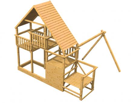 Fichtenholz Spielturm Modell 20 EDDY ohne Rutsche ohne Zubehör ohne Rutsche | ohne Zubehör