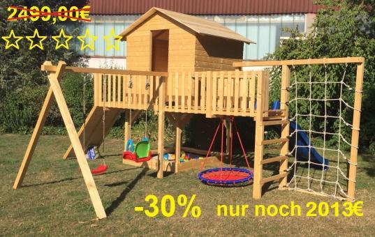 "Fichtenholz Spielturm Modell 21 ""Klettermaxe"" ohne Zubehör ohne Rutsche ohne Rutsche | ohne Zubehör"