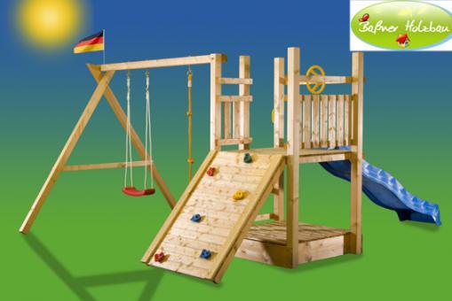 "Fichtenholz Spielturm Modell 3 ""FRIZZY"" ohne Zubehör 100cm ohne Rutsche 100cm | ohne Rutsche | ohne Zubehör"