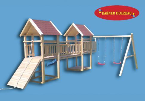 "Fichtenholz Spielturm Modell 7 ""ROBBY"" ohne Zubehör 100cm ohne Rutsche 100cm | ohne Rutsche | ohne Zubehör"