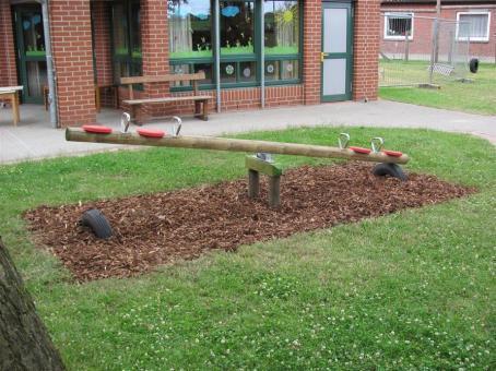 Garten-Holzwippe 2 Kinder Rundholz KDI ohne Sitzfläche 2 Kinder | ohne Sitzfläche | Rundholz KDI