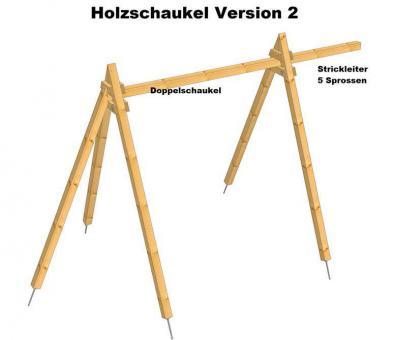 Holzschaukel Version 2  H = 2,94m, aus 10cm x 10cm Balken Holzschaukel Version 10/10cm Holzschaukel Version 10/10cm