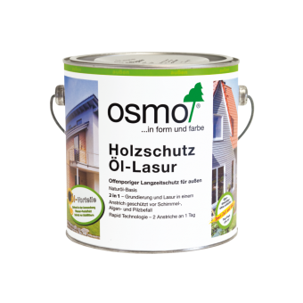 Osmo Holzschutz Öl Lasur innovativer Langzeitschutz auf Ölbasis weiss-900 2,5 l weiss-900   2,5 l
