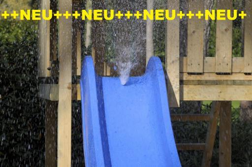 Premium Wasserrutsche, Wellenrutsche 300cm blau blau