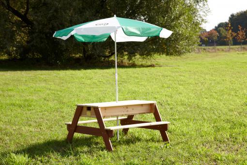 Sand Wasser Spieltisch Pitt 100% FSC-Holz Sankiste Kindertisch Wasserspiele