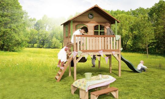"""Spielhaus Kinderspielhaus Serie """"Tom""""  hier """"Haus 15""""   100% FSC"""