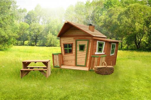 """Spielhaus Kinderspielhaus Serie """"Tom""""  hier """"Haus 9""""   100% FSC"""