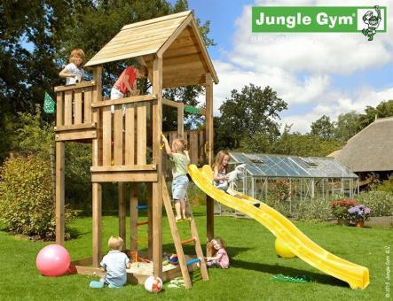 Spielturm Komplettset Jungle Palace dunkelgrün dunkelgrün