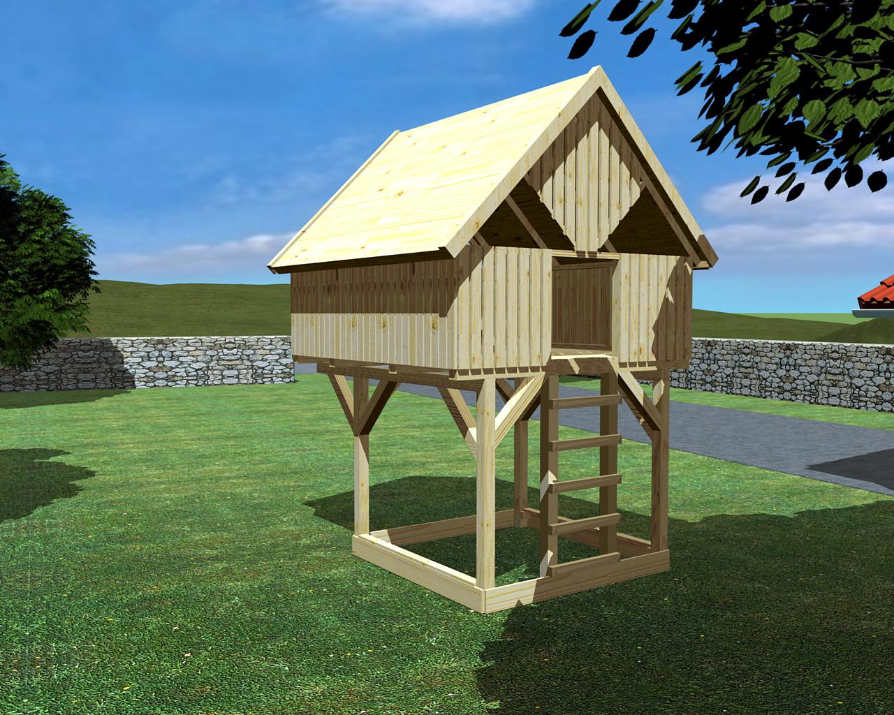 baumhaus auf stelzen oder unterbau modell 9 sonnenschein ohne zubeh r ohne rutsche kein. Black Bedroom Furniture Sets. Home Design Ideas