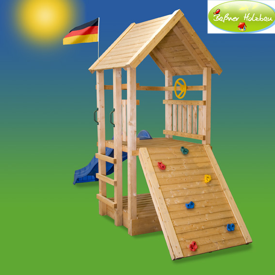 fichtenholz spielturm modell 2 rally ohne zubeh r 100cm ohne rutsche 100cm ohne rutsche. Black Bedroom Furniture Sets. Home Design Ideas